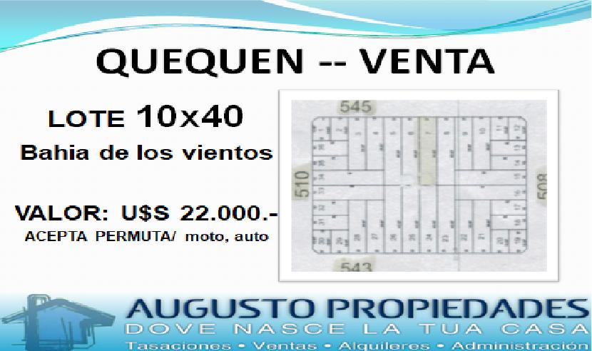 PLAYA ZONA BAHIA DE LOS VIENTOS – Augusto Propiedades